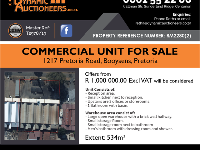 Booysens Warehouse For Sale